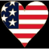 HEART USA FLAG COLORS PIN