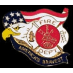 AMERICAS BRAVEST FIRE DEPARTMENT PIN