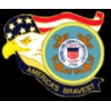 US COAST GUARD AMERICAS BRAVEST PIN