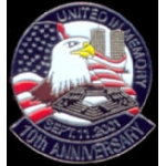 911 10TH ANNIVERSARY UNITED IN MEMORY PIN