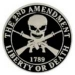 LIBERTY OR DEATH PIN 2ND SECOND AMENDMENT SKULL PINS