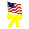 USA FLAG PIN UNITED STATES FLAG PIN YELLOW RIBBON PIN