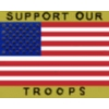 SUPPORT OUR TROOPS USA FLAG SCRIPT PIN