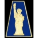 STATUE OF LIBERTY BLUE TAB PIN