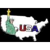 STATUE OF LIBERTY WITH USA SHAPE PIN