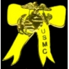 USMC MARINE CORPS YELLOW RIBBON GOLD SM PIN DX