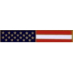 UNITED STATES FLAG BAR PIN LONG USA FLAG BAR PIN