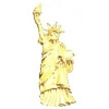 STATUE OF LIBERTY PIN FULL BODY STANDING GOLD PIN