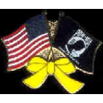 POW MIA YELLOW RIBBON USA FLAG COMBO