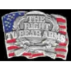 THE RIGHT TO BEAR ARMS PIN USA FLAG CAST PIN DX