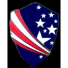 AMERICAN USA FLAG THEME SHIELD PIN