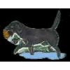 BLACK LAB HUNTING DOG PIN