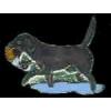 BLACK LAB HUNTING DOG PIN