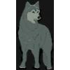 WOLF PIN GRAY WOLF STANDING PIN