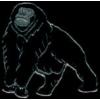 GORILLA STANDING ZOO SERIES PIN