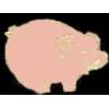 CUTE PIG PINK SMALL PIG PIN