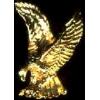 EAGLE GOLD 3D CAST PIN