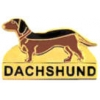 DACHSHUND PIN DOG PIN WITH SCRIPT