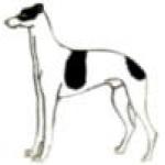 GREYHOUND DOG PIN