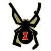 BLACK WIDOW SPIDER PIN