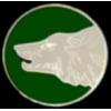 WOLF HEAD ROUND PIN