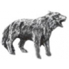 WOLF PIN CAST PEWTER WOLF PIN