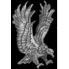EAGLE OUT SWEPT WINGS LARGE CAST PIN