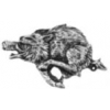 RAZORBACK PIG PIN CAST LARGE RAZORBACK PIN