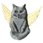 CAT PIN GUARDIAN ANGEL CAT PIN DX