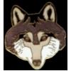 WOLF PIN WOLF FACE PIN
