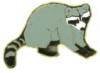 RACCOON PIN GRAY PIN