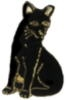 CAT PIN BLACK CAT PIN