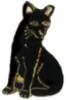 CAT PIN BLACK CAT PIN