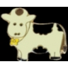 COW WITH BELL PIN