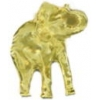 ELEPHANT PIN TRUNK UP 3D GOLD CAST PIN