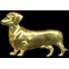DACHSHUND PIN GOLD CAST DOG PIN