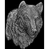 WOLF PIN CAST WOLF HEAD PIN