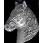 HORSE HEAD CAST PIN