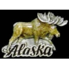ALASKA MOOSE PEWTER PIN