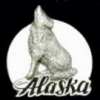 ALASKA PIN WOLF HAT LAPEL PIN