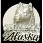 ALASKA HUSKIE DOGSLED PIN