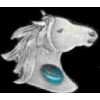 HORSE PIN HEAD WITH BEAD CAST PIN