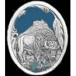 BUFFALO STANDING OVAL CAST PIN