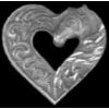 HORSE HEAD HEART CAST PIN