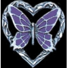BUTTERFLY LOVE HEART CAST PIN