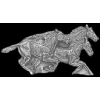 HORSES RUNNING CAST PIN