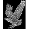 EAGLE PIN WITH WINGS OUT CAST EAGLE PIN