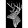 DEER PIN BUCK DEER HEAD WITH ANTLERS PIN