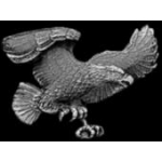 EAGLE PIN WITH WINGS AND CLAWS OUT CAST EAGLE PIN