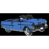 CHEVROLET 1955 CONVERTIBLE LT BLUE PIN